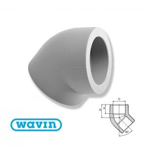Колено 45 d16 Ekoplastik SKO01645 - Wavin