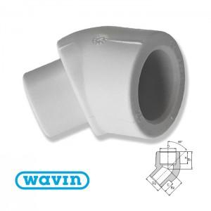 Колено 45 в-н d20 Ekoplastik SKO12045 - Wavin