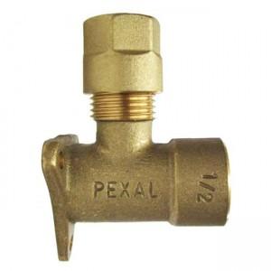 Резьбовое колено настенное 20x1/2в Pexal 101514 - Valsir