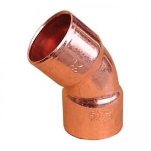Колено под пайку медь d35 45° (две муфты) 5041 - Sanha