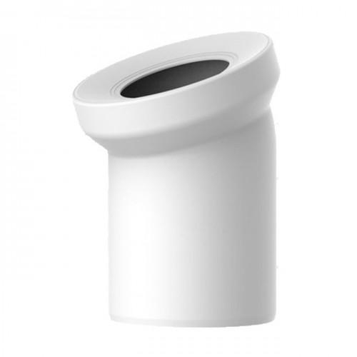 Колено для унитаза белое d110x22° 58.101 - Sanit