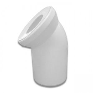 Колено для унитаза белое d110x45° 58.102 - Sanit