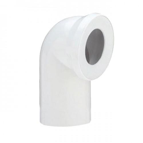 Колено для унитаза белое d110x90° 58.103 - Sanit