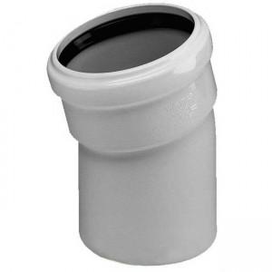 Колено d50x15 PVC канализация - Wavin