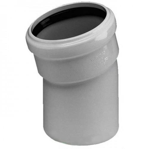 Колено d50x22 PVC канализация - Wavin