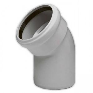 Колено d50x45 PVC канализация - Wavin