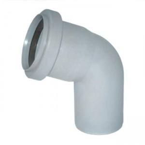 Колено d50x67 PVC канализация - Wavin
