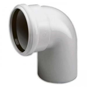 Колено d50x88 PVC канализация - Wavin