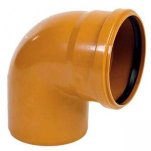 Колено d110x88 PVC наружная канализация класс N - Wavin