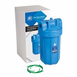 "Корпус фильтра (без картриджа) Big Blue 10"" резьба 1"" FH10B1_M - Aquafilter"