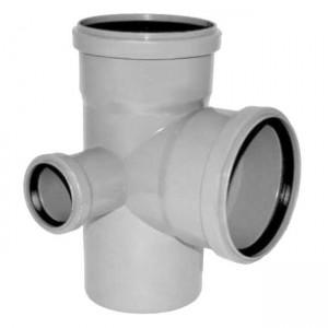 Крестовина двухплоскостная (левая) d110xd110xd50x67 PP канализация - Valsir
