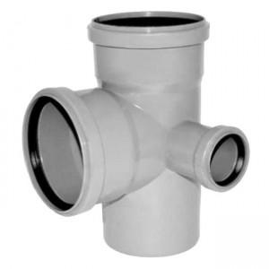 Крестовина двухплоскостная (правая) d110xd110xd50x87 PP канализация - Valsir