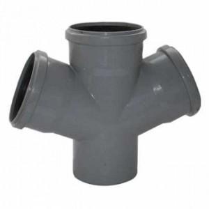 Крестовина d110xd110xd110x67 PVC канализация - Wavin