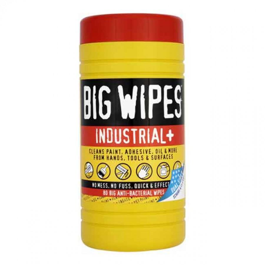 Салфетки чистящие Industrial Plus туба 48 шт - Big Wipes