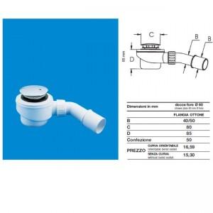 Сифон для душевого поддона DN40-50x60 d80mm 369.080  - Ghidini