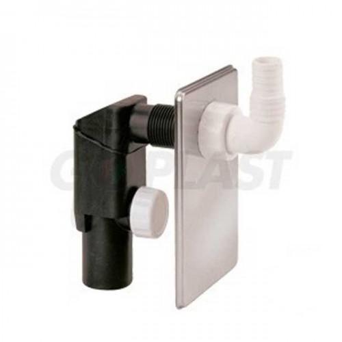 Сифон для стиральной машины встраиваемый (пластина из нержавеющей стали) DN40 1205INOX00 - Go Plast