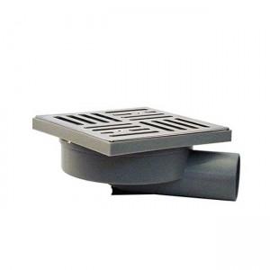 Трап для наружного и внутреннего использования горизонтальный DN50 150x150mm E2250AI - Redi