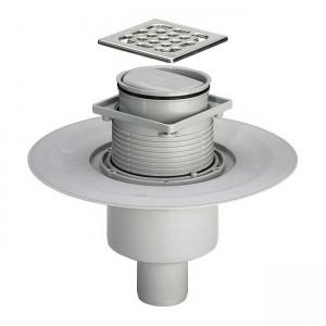 Трап для ванной комнаты Advantix с сухим затвором вертикальный DN50 100x100mm 583224 - Viega