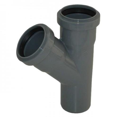 Тройник d50xd40x67 PVC канализация - Wavin
