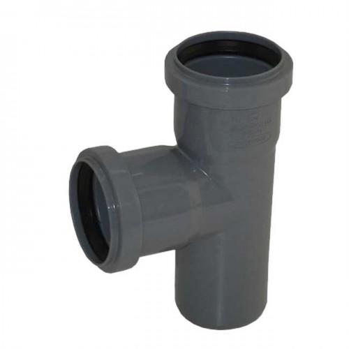 Тройник d50xd40x88 PVC канализация - Wavin