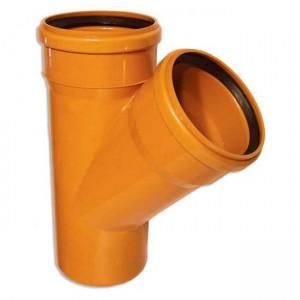 Тройник d110xd110x45 PVC наружная канализация класс N - Wavin