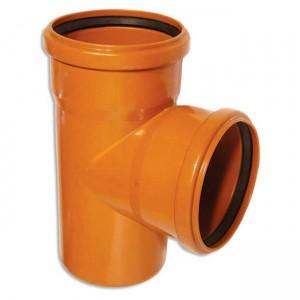 Тройник d110xd110x88 PVC наружная канализация класс N - Wavin
