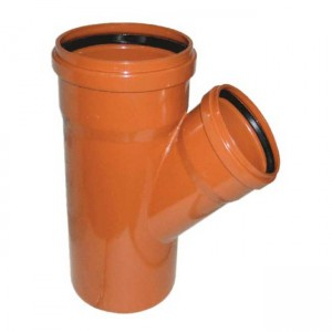 Тройник d160xd110x45 PVC наружная канализация класс N - Wavin