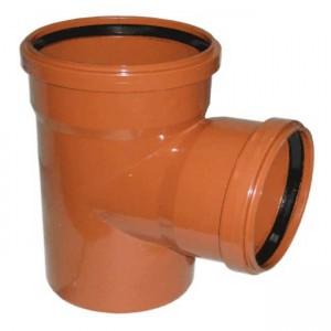 Тройник d160xd110x88 PVC наружная канализация класс N - Wavin